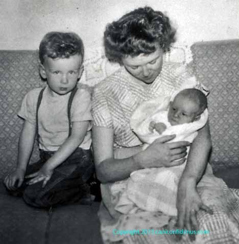 My brother Henry and my mother, holding me. This must have been shortly after May, 1950, when I was born.