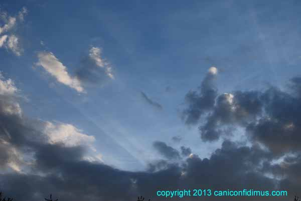 Zoomed crepuscular rays
