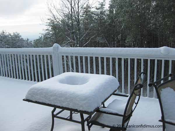 deck table snow